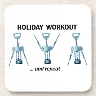 Holiday Workout Drink Coaster
