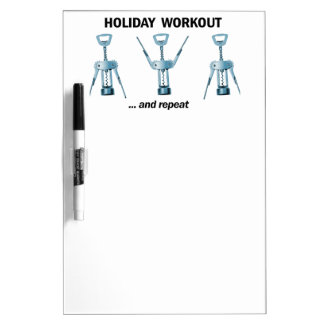 Holiday Workout Dry-Erase Whiteboards