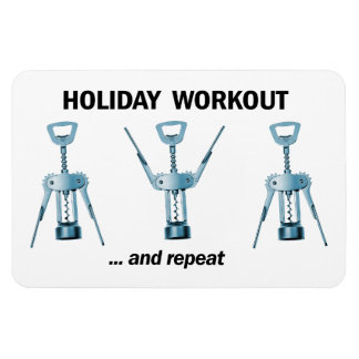 Holiday Workout Magnet