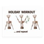 Holiday Workout Postcard