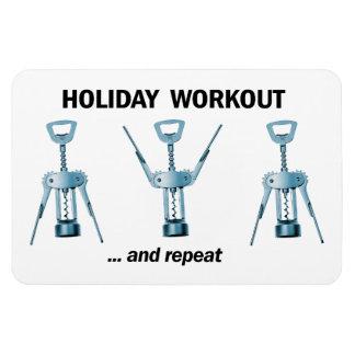 Holiday Workout Rectangular Photo Magnet
