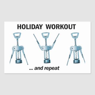 Holiday Workout Rectangular Sticker