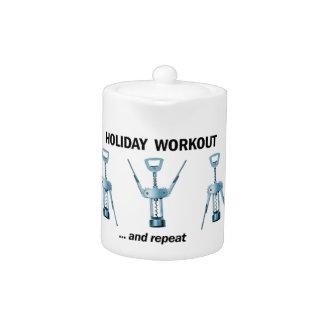 Holiday Workout Teapot