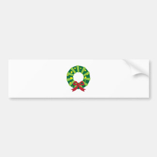 Holiday Wreath Bumper Stickers