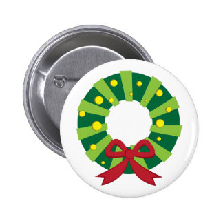 Holiday Wreath Pinback Button