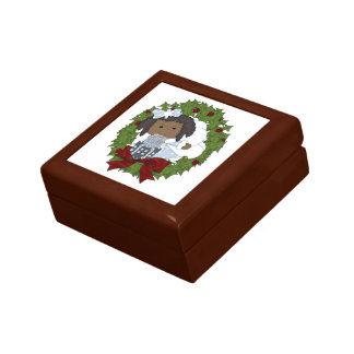 Holiday Wreath Christmas Gift Jewelry Box