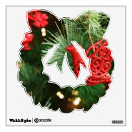 Holiday Wreath Christmas Removable Wall Decals