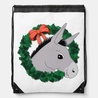 Holiday Wreath Donkey Backpack