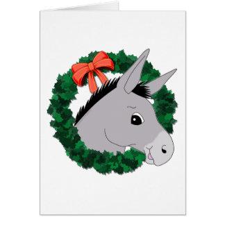 Holiday Wreath Donkey Card