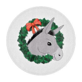 Holiday Wreath Donkey Cutting Board