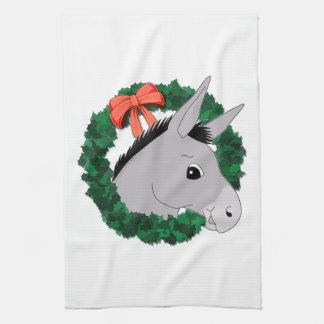 Holiday Wreath Donkey Hand Towel
