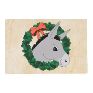 Holiday Wreath Donkey Placemat