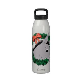 Holiday Wreath Donkey Drinking Bottle