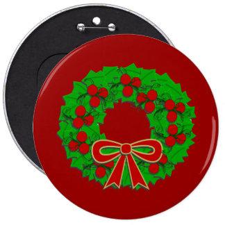 Holiday Wreath Flair Button