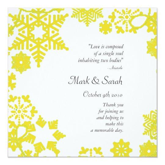 Holiday Wreath Gold Wedding Program
