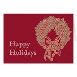 Holiday Wreath Greetings Greeting Card