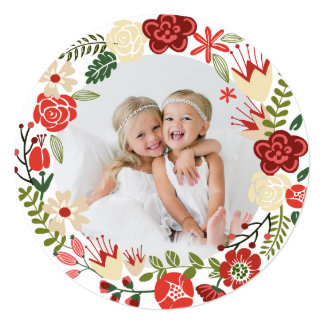Holiday Wreath | Holiday Photo Card