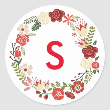 Christmas Themed Holiday Wreath | Holiday Stickers