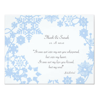 Holiday Wreath Light Blue RSVP Card