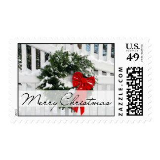 Holiday Wreath • Merry Christmas Postage