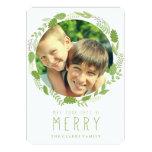 HOLIDAY WREATH | MODERN HOLIDAY PHOTO CARD CUSTOM ANNOUNCEMENTS