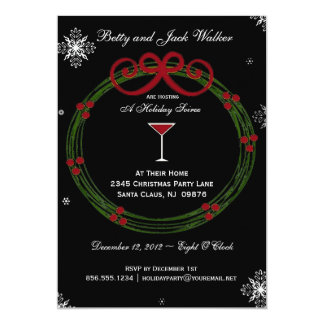 Holiday Wreath Party Invitation