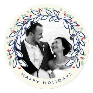 Holiday Wreath Photo Card