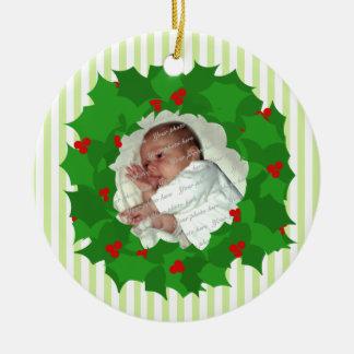 Holiday Wreath Photo Christmas Ornaments