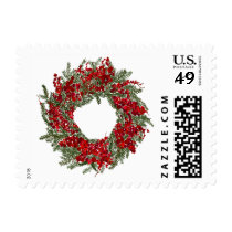 Holiday Wreath Postage
