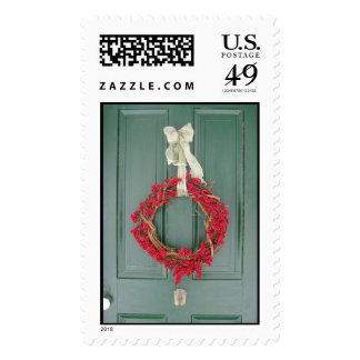 Holiday Wreath Postage Stamps