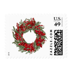 Holiday Wreath Postage at Zazzle