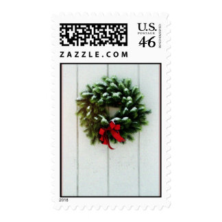 Holiday Wreath Postage Stamp