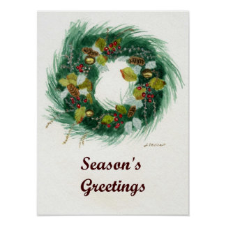 Holiday Wreath Print