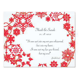 Holiday Wreath Red RSVP Card