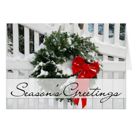 Holiday Wreath • Season's Greetings Card