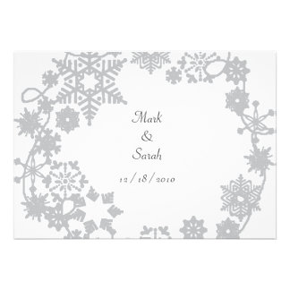 Holiday Wreath Silver Invitation