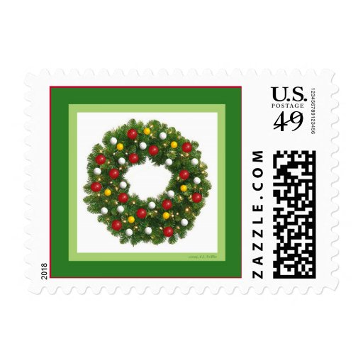Holiday Wreath Stamps