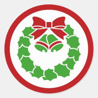 Holiday Wreath Round Stickers