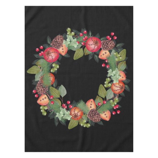 Holiday Wreath Table Cloth