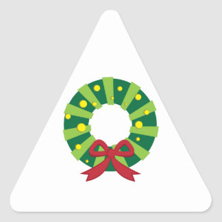 Holiday Wreath Triangle Sticker