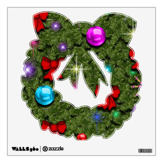 Holiday Wreath Wall Decal