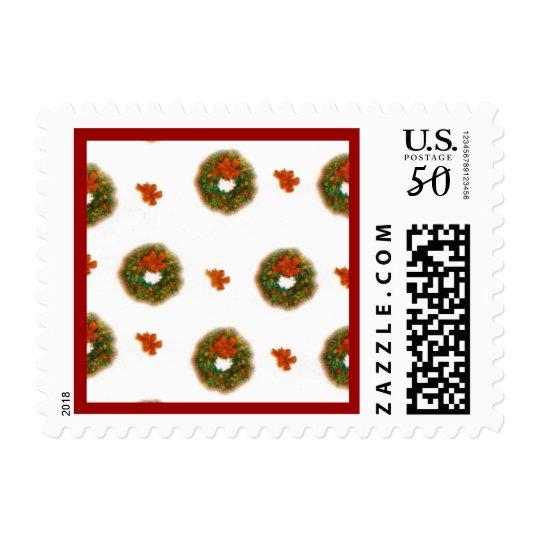 Holiday Wreaths Christmas Postage Stamp