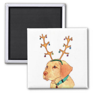 Holiday Yellow Lab Magnet