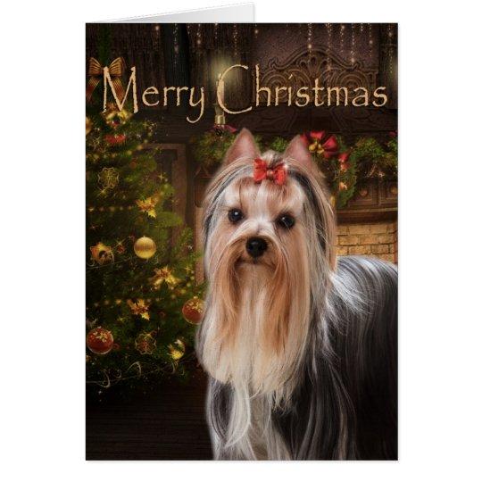 Holiday Yorkie Christmas Card