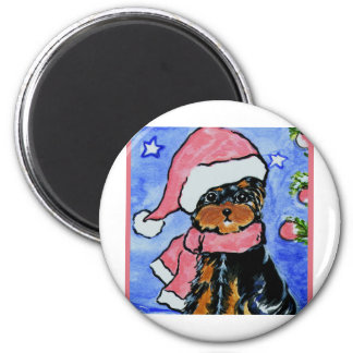 Holiday Yorkie Poo Magnet