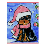 Holiday Yorkie Poo Post Cards
