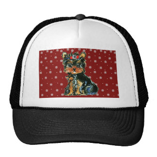 Holiday Yorkie Poos Trucker Hats