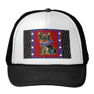 Holiday Yorkie Poos Trucker Hat