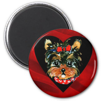 Holiday Yorkie Poos Magnet