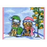 Holiday Yorkshire Terriers Postcards